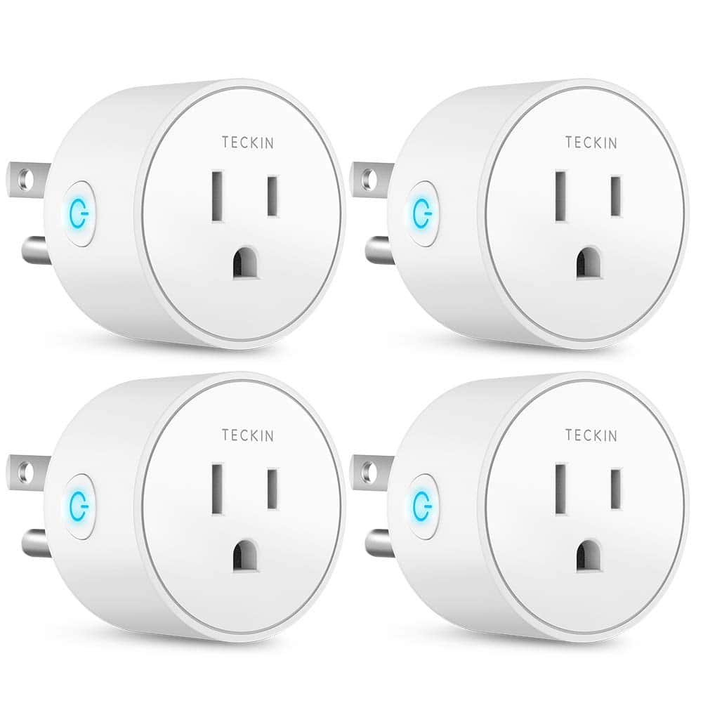 Smart Plug Works with Alexa Google Assistant IFTTT for Voice Control, Teckin Mini Smart Outlet Wifi plug with Timer Function, No Hub Required, $25.49