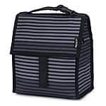 PackIt Freezable Lunch Bag with Zip Closure, Gray Stripe $15.04 + FSSS or Prime