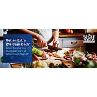 American Express Giftcards Deal: American Express Blue Cash, BCE, and BCP extra 2% off at Whole Foods Exp Feb 15,2015