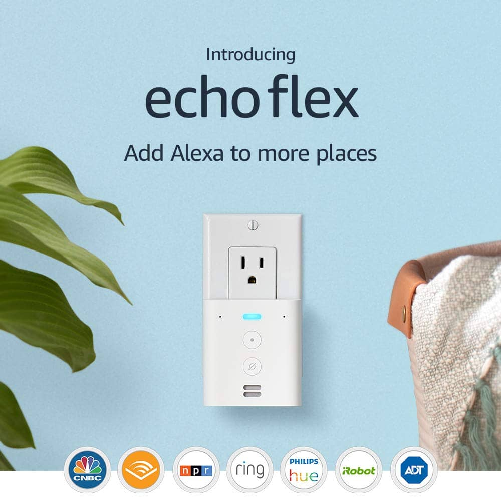 Echo Flex - Plug-in mini smart speaker with Alexa -2 pk @ $35 with code