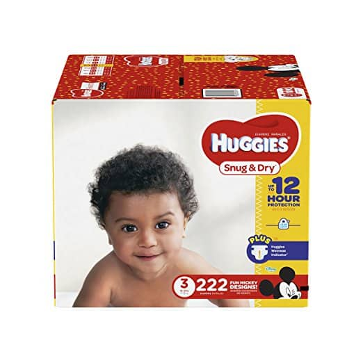 Prime S&S HUGGIES Snug & Dry Diapers, Size 3, for 16-28 lbs (222 Count) approx $21-25