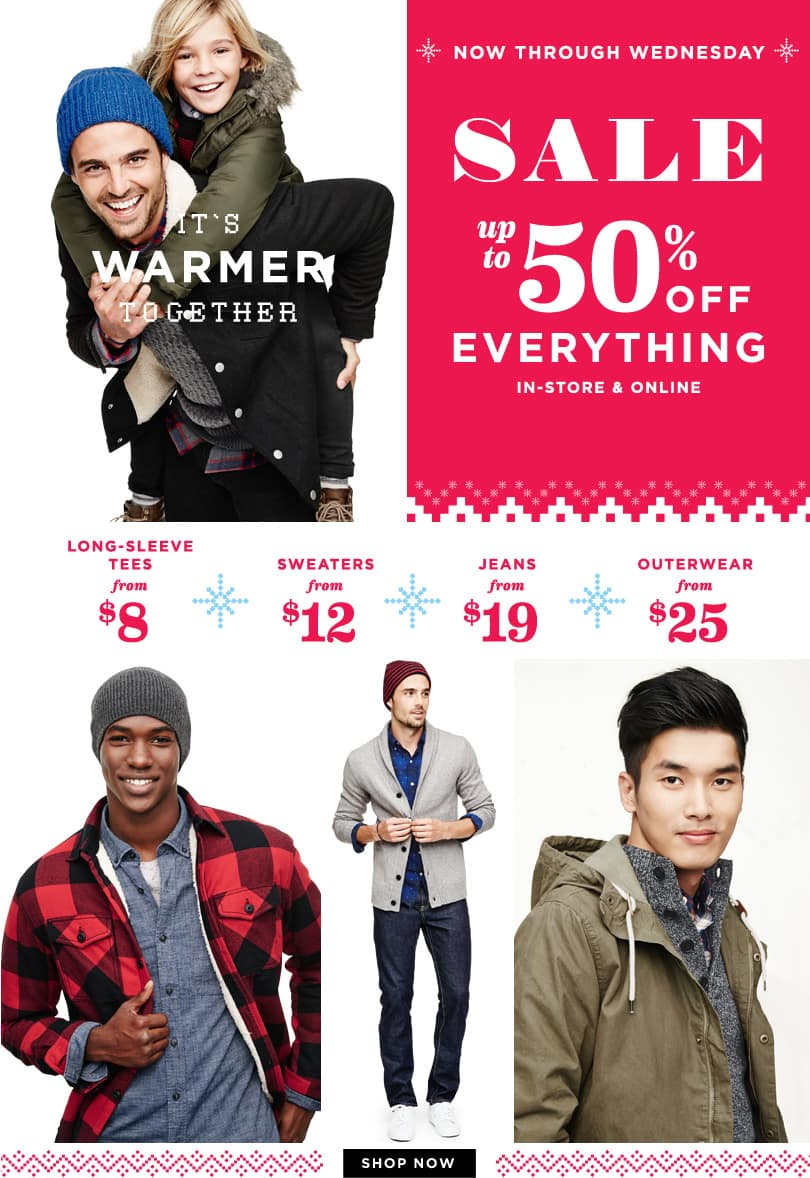 Old Navy Sale: Up to 50% off sitewide + extra 25% off