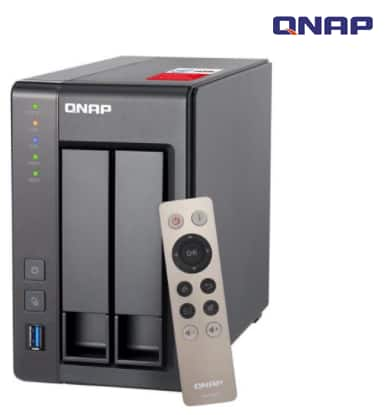QNAP TS-251+-2G-US with Controller 2-Bay Personal Cloud NAS - $280 AC