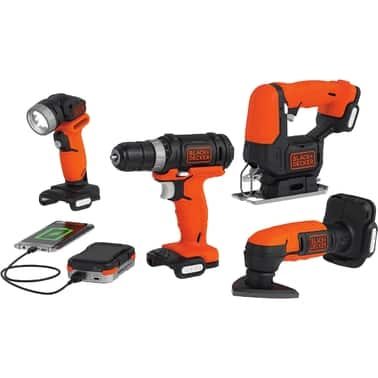 AAFES: Military / Vets Black & Decker GoPak 4 Tool Combo Kit $65.07