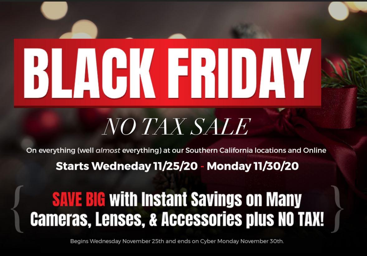 SAMY'S CAMERA - Save on SALES TAX from Nov 25-Nov 30 $80