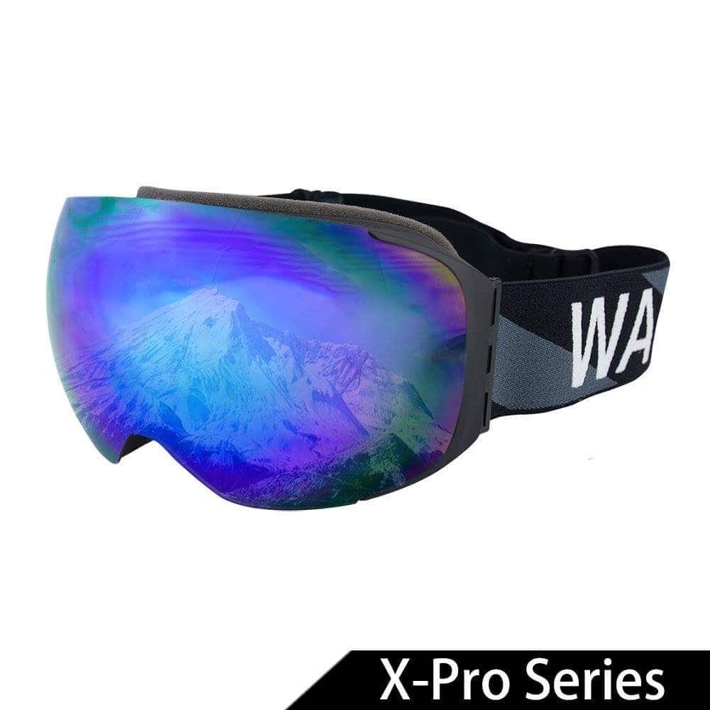 Multicolor Ski Goggles with Detachable Double Lens Anti-fog Extra-large Spherical Lens UV400 from $19.59