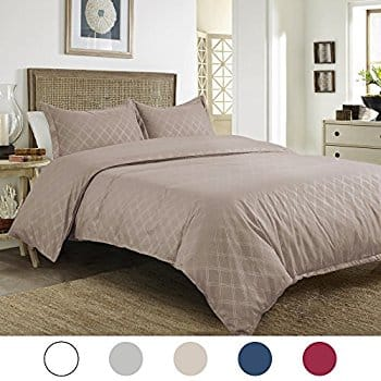 40% off 3-Piece Embossed Solid Duvet Cover Set $11.99-$17.99 + FS