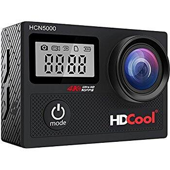 HDCool 4K 16MP Action Camera Sports Waterproof Video Camera, 2 1050 MahBatteries & Covers $41.99 AC