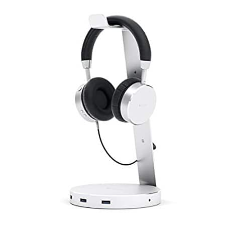 Satechi Aluminum USB Headphone Stand Holder with Three USB 3.0 Ports and 3.5mm AUX port $24.99
