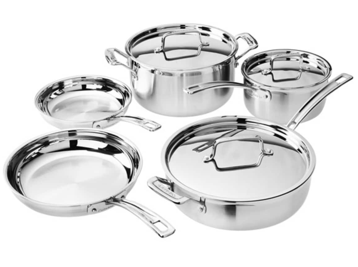 Cuisinart 8pc MultiClad Pro Stainless Cookware Set (MCP-8NW) Open-Box ($98.99 +FS with Prime)