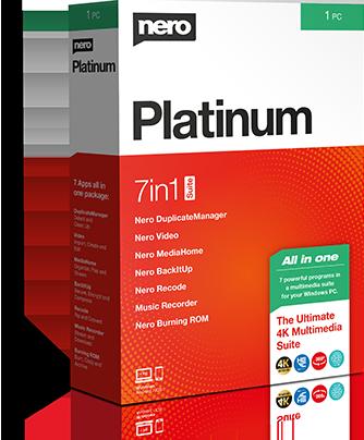 Nero 2020 Platinum Suite (permanent license) + 5 Nero-branded physical goodies (USB stick, etc.) + 11 additional software titles $49.95