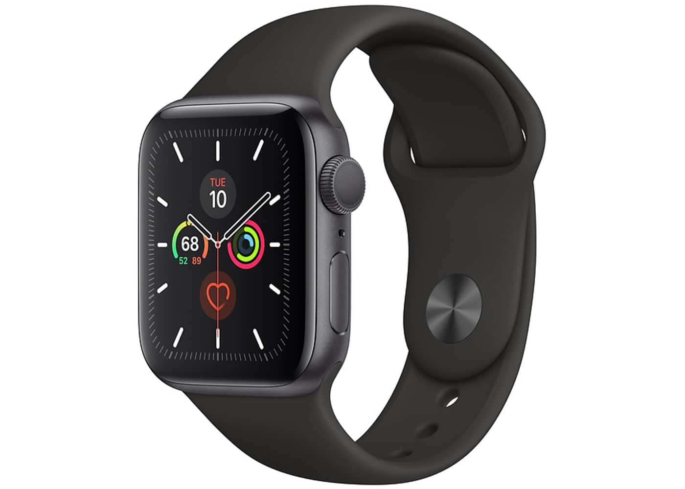Apple Watch Series 5 GPS 40mm Space Gray Aluminum with Black Sport Band A2092 $342