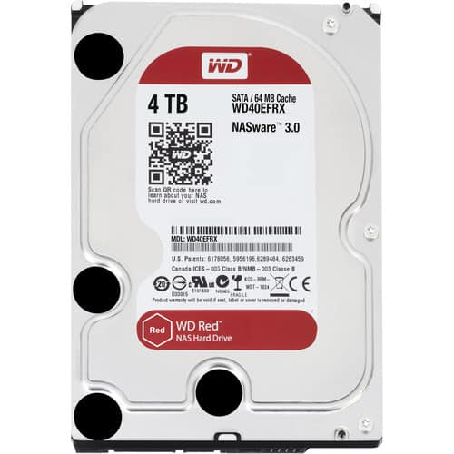 WD 4TB Red 5400 rpm SATA III 3.5in Internal NAS HDD Retail Kit $84.99