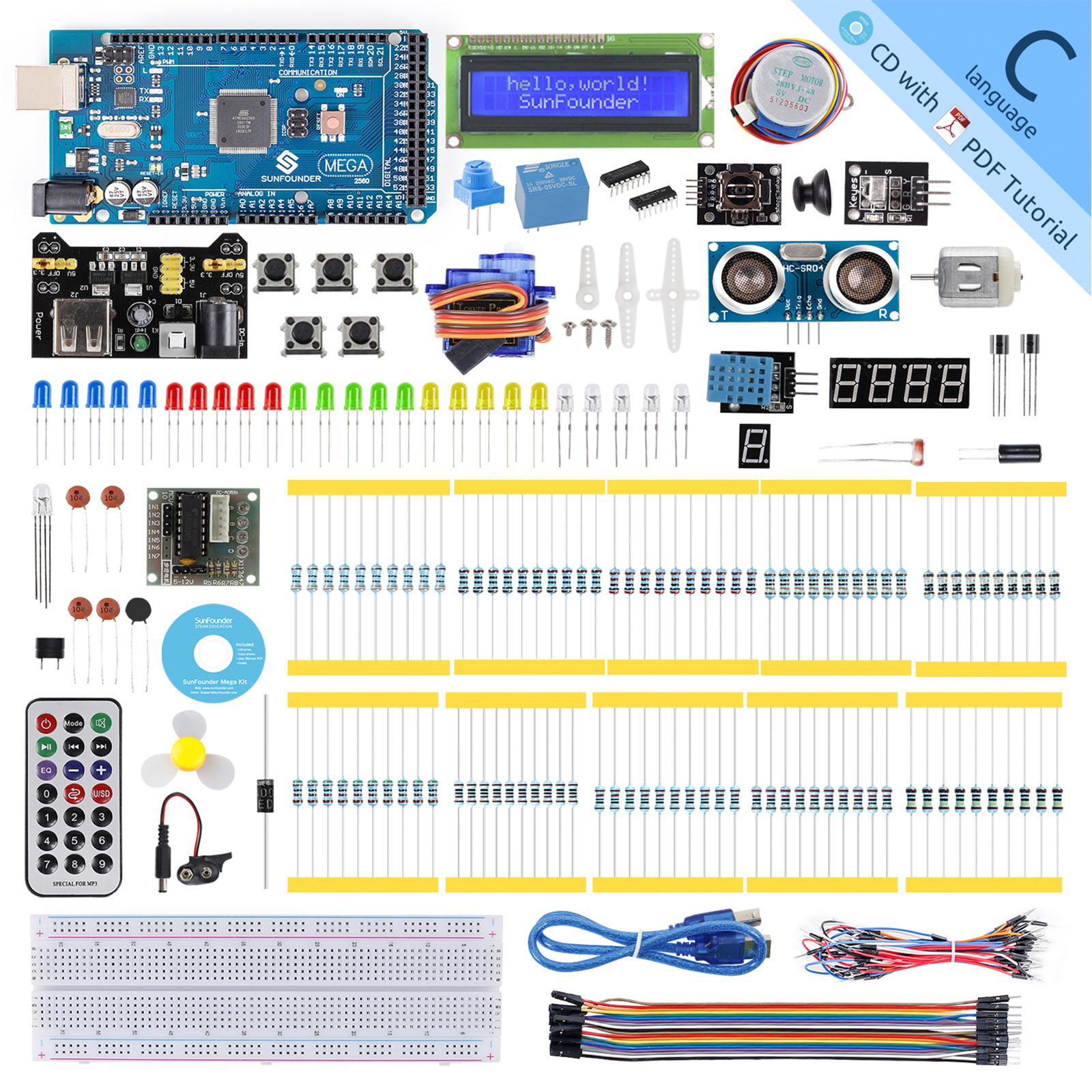 SunFounder Mega 2560 R3 Project Super Starter Kit with Mega 2560 Board $29.24