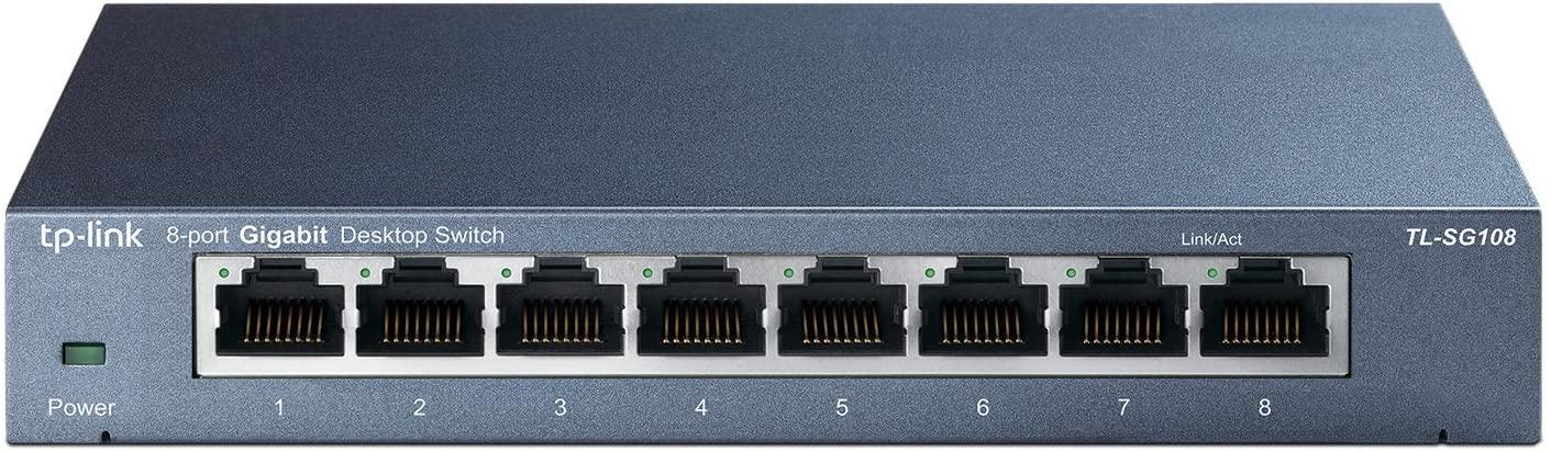 TP-Link TL-SG108 | 8 Port Gigabit Unmanaged Ethernet Network Switch $18.99