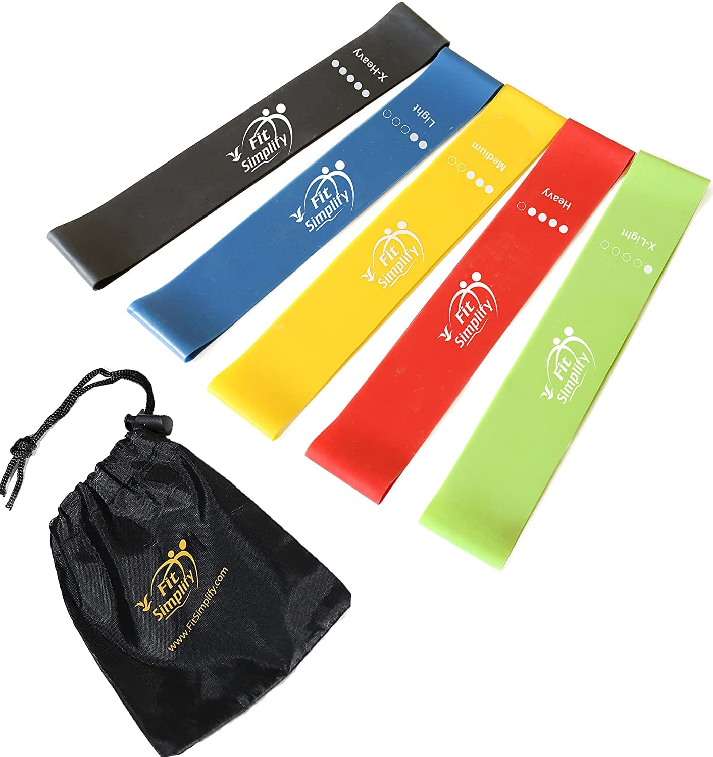 Fit Simplify Resistance Loop Exercise Bands for Home Fitness, Stretching, Strength Training, Physical Therapy, Workout Bands, Pilates Flexbands, Set of 5 $11.95