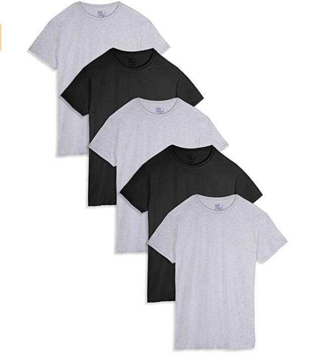 5-Pack Fruit of the Loom Men's T-Shirts (various colors, S,M,L,XL) $11