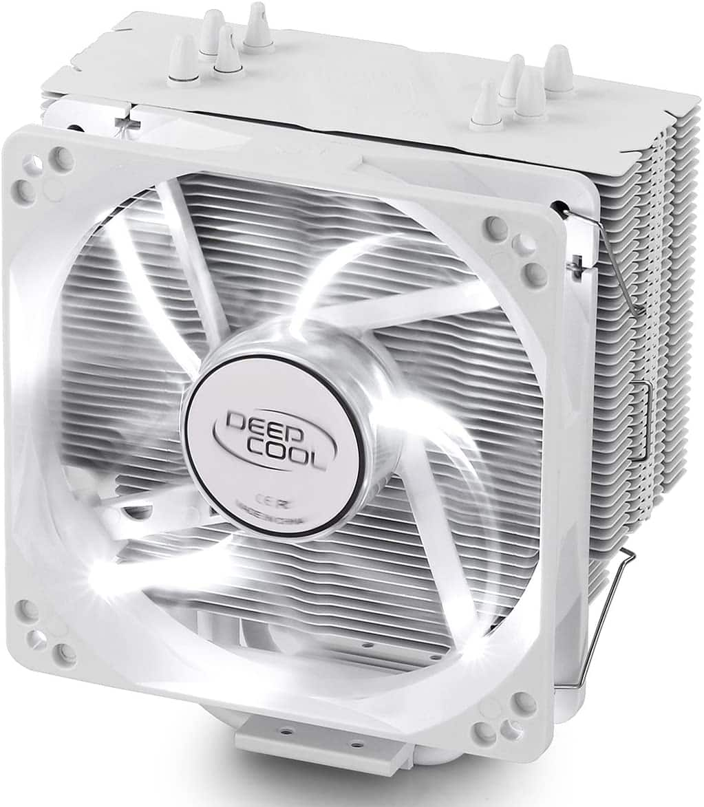 DEEP COOL GAMMAXX 400WH CPU Air Cooler with 4 Heatpipes, 120mm PWM Fan and White LED for Intel/AMD CPU, AM4 Compatible $24.99