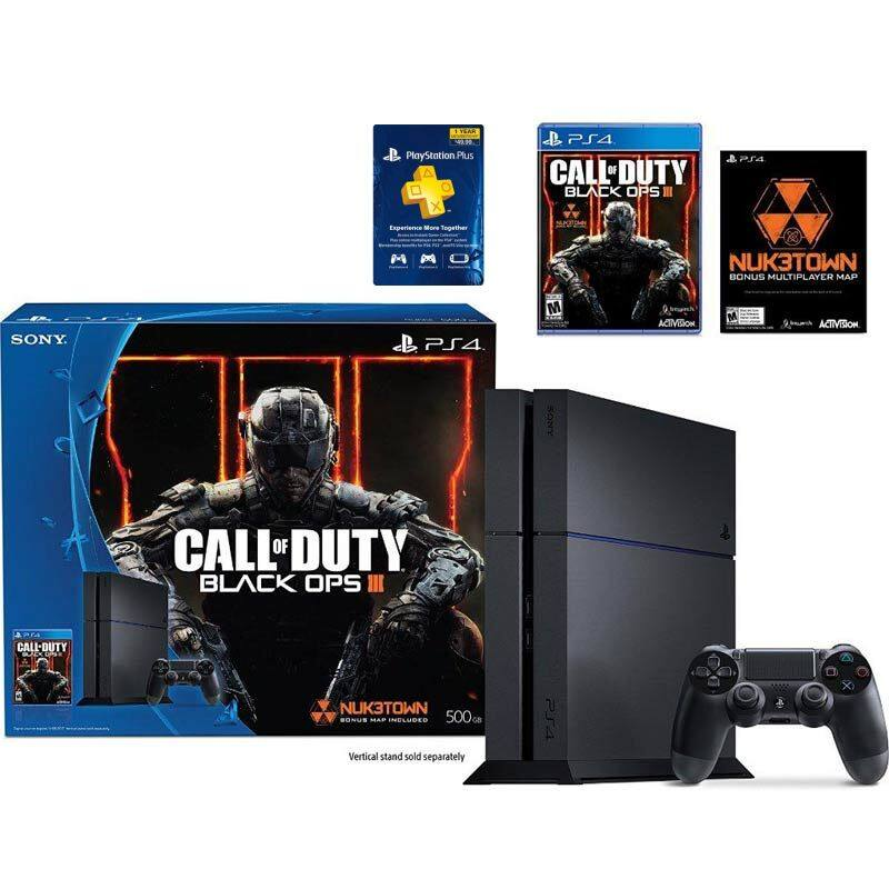 PlayStation 4 Black Ops Bundle with 1 year PlayStation plus and sales tax paid - $350 @ Frys Electronics