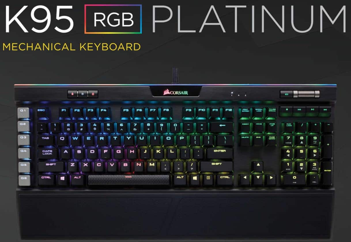 Corsair K95 RGB Platinum Mechanical Gaming Keyboard (Cherry MX