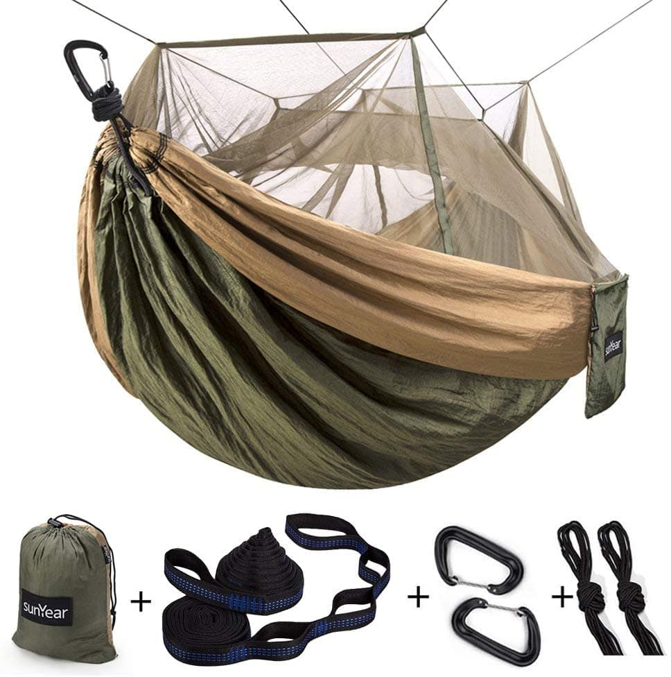 Single & Double Camping Hammock with Mosquito/Bug Net $22.99