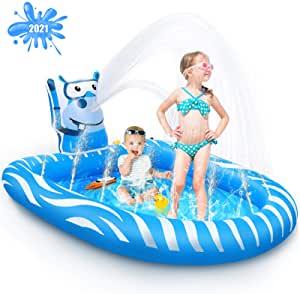 Splash Pad Kids Pools Baby Pool -Lifetime Replacement Guarantee $18.99 at amazon