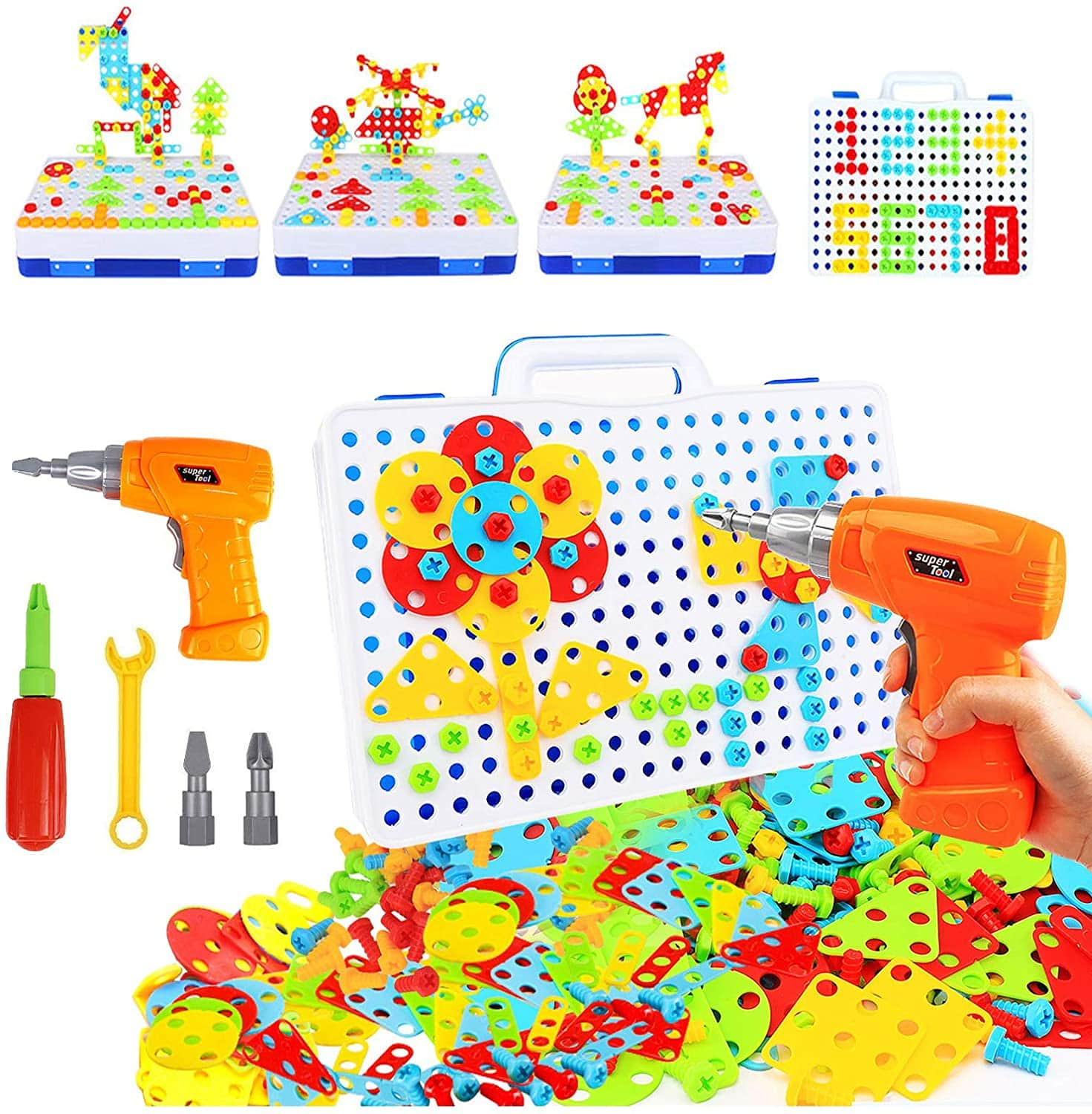 237 Pieces Electric DIY Drill Educational Set, STEM Learning Toys $16.49 at amazon 16.49