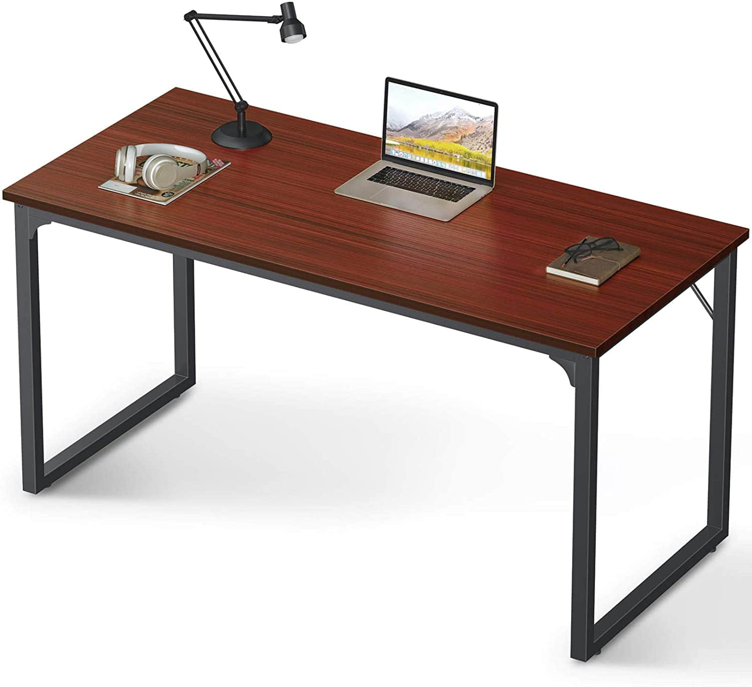 "Coleshome Computer Desk 55"", Modern Simple Style Desk for Home Office, Sturdy Writing Desk,Teak $62.99 at amazon"