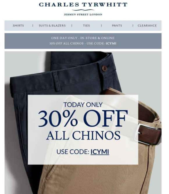 30% off chinos at charles tyrwhitt $62