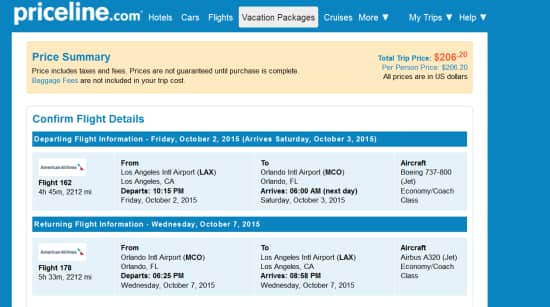 American Airlines - $206 RT: Los Angeles to Orlando (and vice versa)