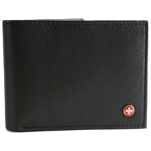 Alpine Swiss Mens Leather Wallet Multi Card Flip ID High Capacity Compact Bifold - $10.99 + FS