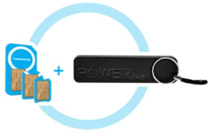 $1.99 - Global 3-in-1 SIM Kit + Free Power Bank + Free Mobile Phone Service - FreedomPop