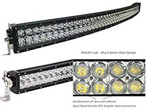 "52"" Curved LED Light Bar 5D 500W - $123.89, 52"" 400w Straight LED Light Bar for Trucks/SUV/Boats - $88.19"