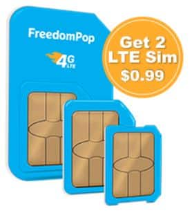 Get 2 LTE GSM Sim Cards + Unlimited talk, text, and Shared 4GB - $1