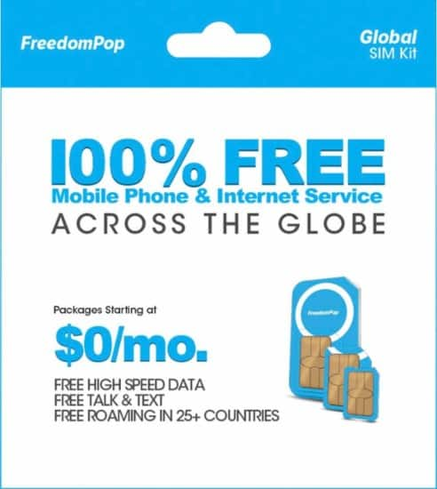 FreedomPop - Global 3-in-1 SIM Card w/200MB of data + 200 minutes + 500 texts included monthly + 500MB Bonus - $0.99 @BestBuy