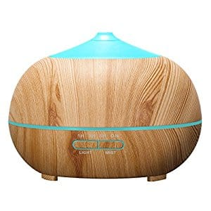 400ml Wood Grain Ultrasonic Aromatherapy Essential Oil Diffuser w/ 7 Color LED Lights - $14.81