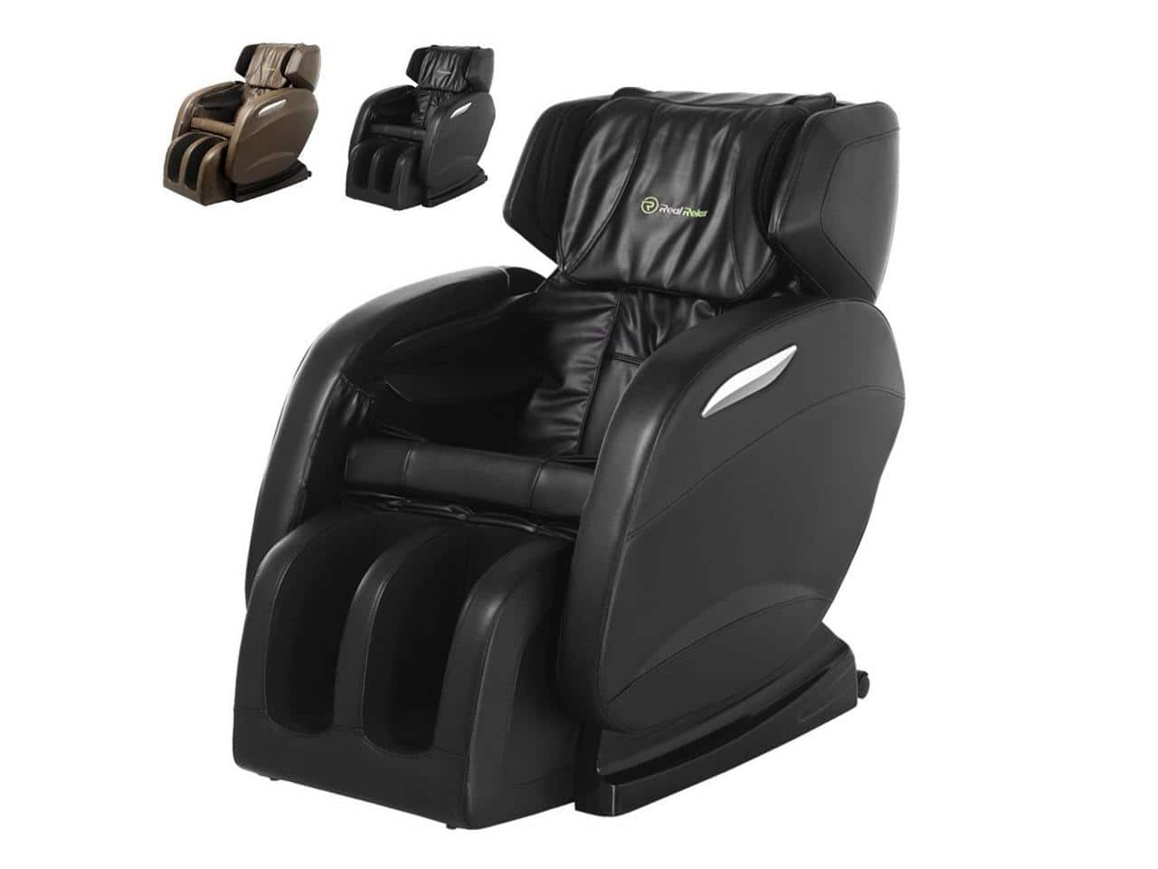 realrelax full body shiatsu massage chair recliner zero gravity foot roller
