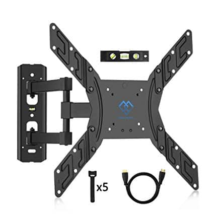 """PERLESMITH TV Wall Mount w/ Tilt and Swivel Articulating Arm for 23""""- 55"""" TVs - $16.93"""