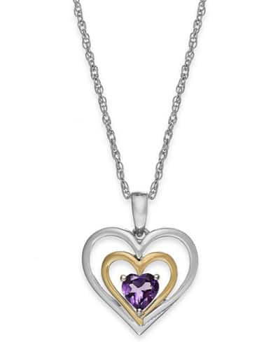 Macy's Fine Jewelry Sale - 30-55% Off + Additional 20% Off. Diamond Promise Ring in 10k White - $288, Amethyst Heart Pendant Necklace in 14k Gold - $59.99