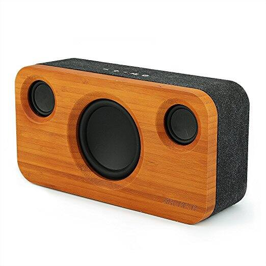ARCHEER 25W Bluetooth Speaker (A320), Loud Bamboo Wood Wireless Speakers with Subwoofer - $44.09