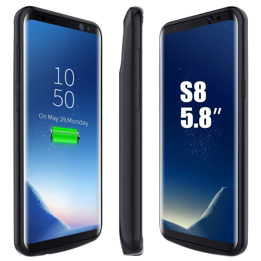BrexLink 5000/5500 mAh Rechargeable External Battery Cases for Galaxy S8/S8 Plus - $19.99