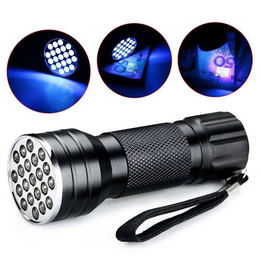 21 LED Aluminium Alloy UV Flashlight - $1.50