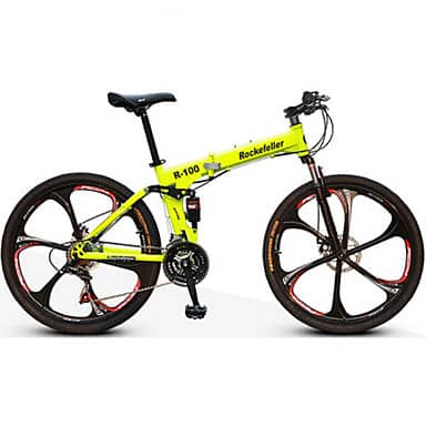 Mountain Bike Folding Bike Cycling 21 Speed 26 Inch/700CC Double Disc Brake Suspension - $259.97