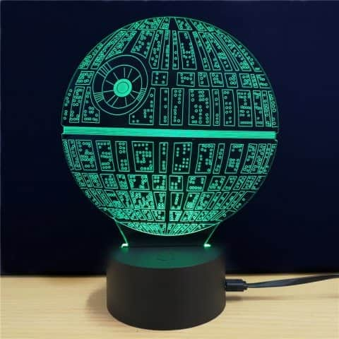 M.Sparkling Creative 3D LED Lamp Star Wars The Death Star Shape Table Lamp - Colorful - $5.29 $5.18