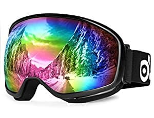 $9.99 - Odoland Snow Ski Goggles S2 Double Lens Anti-fog Windproof UV400 Eyewear