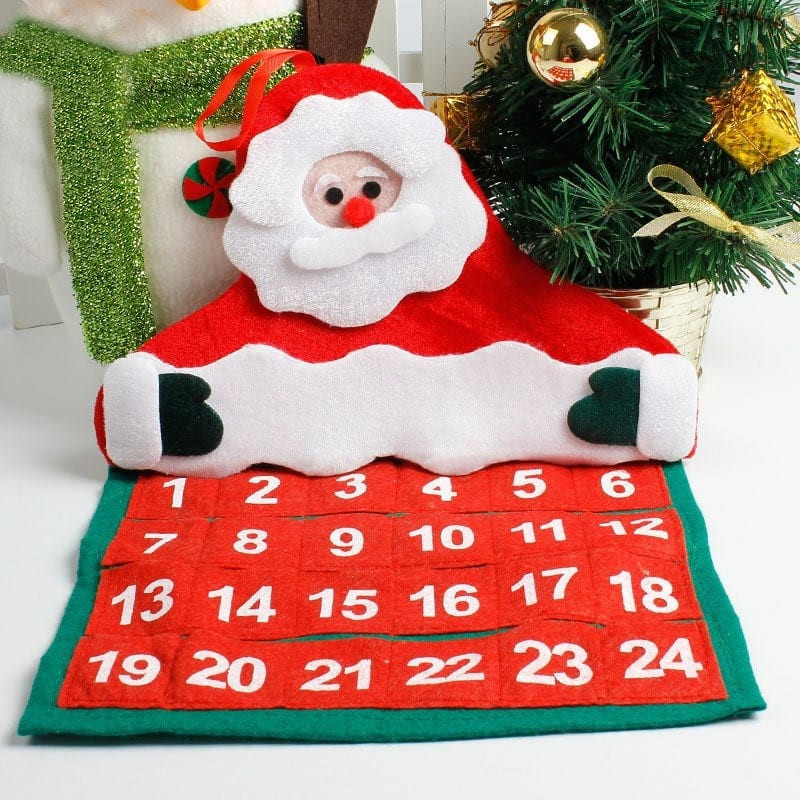 Christmas Santa Claus Advent Calendar Hanging Decoration - $1.15