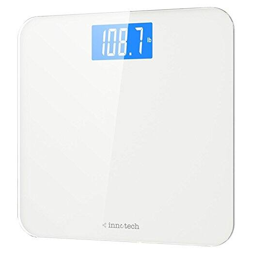 Innotech Digital Bathroom Scale with Easy-to-Read Backlit LCD - $13.99