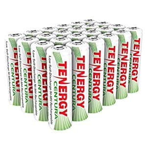 Tenergy Centura AA Low Self-Discharge LSD NiMH Rechargeable Batteries, 6 Card 24xAA - $29.59