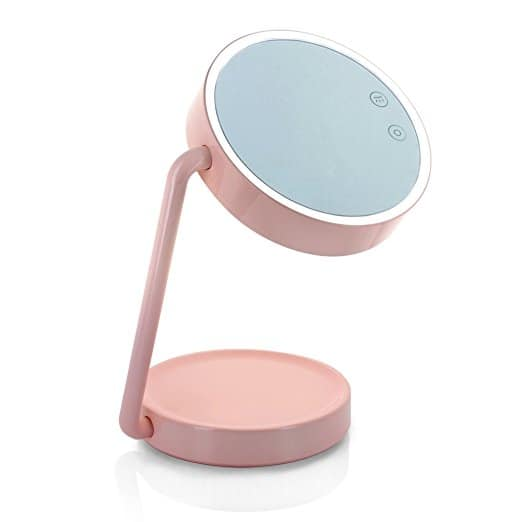 Tenergy Cordless LED Vanity Mirror Portable Multifunctional Lighted Makeup Mirror with Cosmetic Tray Battery Powered Desk Lamp - $23.99