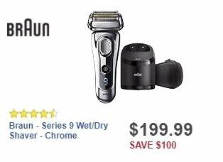 Best Buy Weekly Ad: Braun - Series 9 Wet/Dry Shaver - Chrome for $199.99
